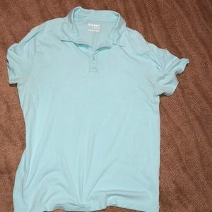 Old Navy light blue polo shirt